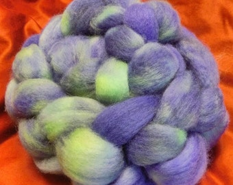 4 oz.  Bluefaced Leicester (BFL) wool roving; The Joker is Back!