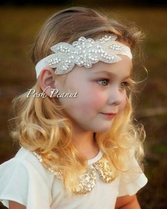rhinestone flower headband rustic flower by rhinestone flower headband rustic flower by