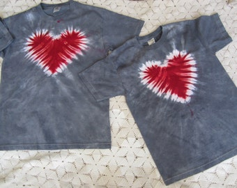 ON SALE- Discounted!!  Tie dye shirts, Valentines Day  (Adult Medium and Youth Large) - 300