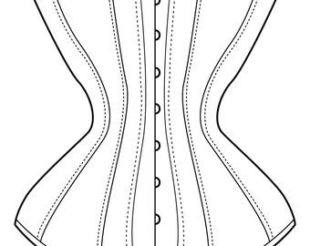 Custom Hourglass Mid Victorian Corset/Stays