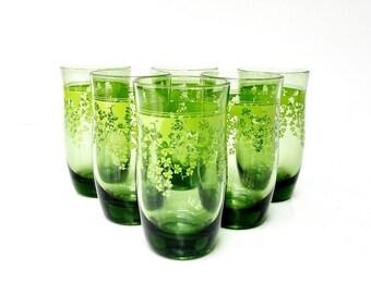Mid-Century Shamrock Juice Glasses