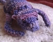 Crocheted Bearded Dragon Plushie in Red Heart Mulberry Mix