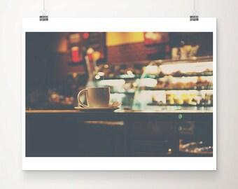 coffee photograph coffee shop print winter photograph coffee cup photograph coffee print kitchen wall art coffee art