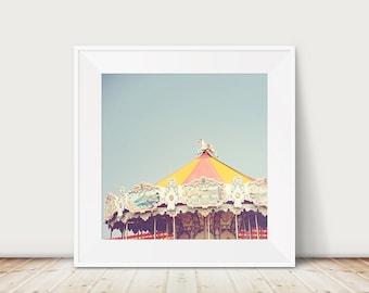 carousel photograph carnival photograph nursery wall art merry go round photograph seaside photograph vintage carousel print