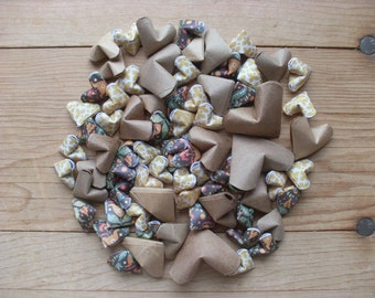 Earth Tones Table Scatter, Origami Hearts, set of 72.