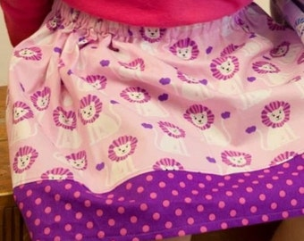 Michel Miller lions Skirt in pink (18 mos, 2t, 3t, 4t, 5t, 6, 7, 8, 10)