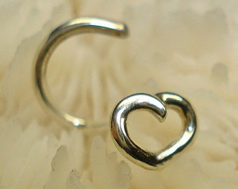 ARGENTIUM STERLING, 4mm, nose jewelry, nose ring, nose stud, nose screw, ready to ship