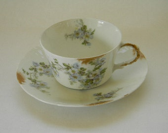 LIMOGES, Vintage Societe Alluaud AD Limoges France, Teacup