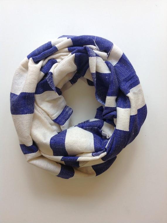 Blue and creme Striped cotton scarf- Lapis blue spring summer scarves- blue scarf for Men - Blue cotton scarf Women- Ethiopian Scarves -
