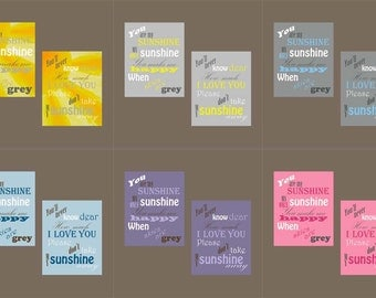 You Are My Sunshine Canvas Prints Set