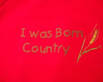 Onesie, Born Country, sleeper, tee shirt