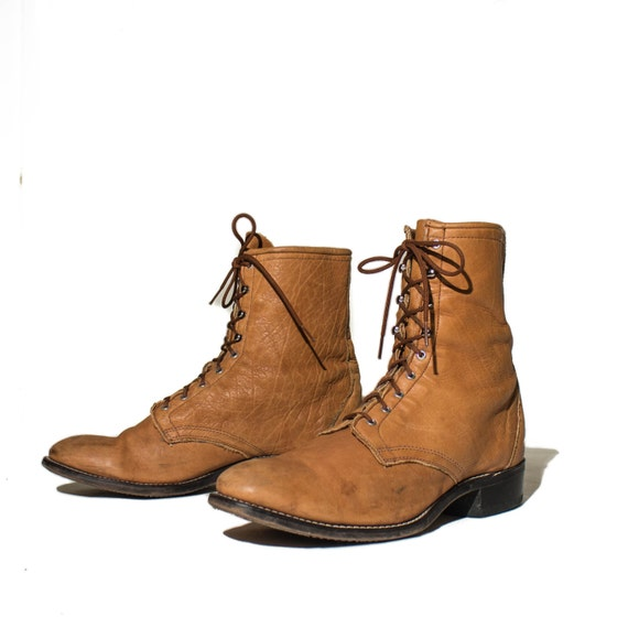 s lace up roper boot laredo golden brown leather lace
