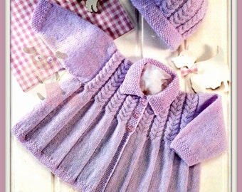 PDF Knitting Pattern - Baby/Children's Coat & Hat To fit 16-22 inch chests -  Instant Download