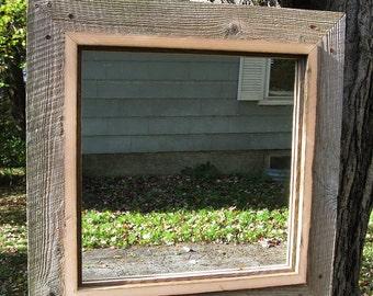 Handcrafted Medium Rustic Barnwood Mirror no.1417