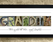 GRANDMA - Alphabet Photography, Personalized Grandma Gift, No Place Like Home Except Grandmas, Gift for Grandma