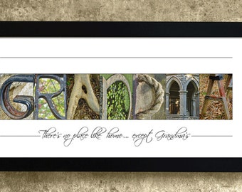 GRANDMA - Alphabet Photography, Personalized Grandma Gift, No Place Like Home Except Grandmas, Gift for Grandma