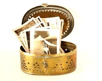 Vintage Brass Trinket / Cricket Box (c.1970s) - Collectible, Dresser Box, Jewelry Box, Unique Storage