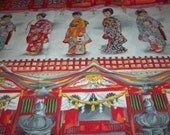 "Fabric Japanese Ladies Panel Asian 24"" Long X 22"" Wide Very Nice New"