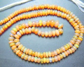 14'' AAA  Ethiopian Opal Yellow Colour smooth Beads Size 3MM To 7MM MM Wholesale Price