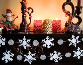 Christmas Decorations, Snowflake Paper Garland