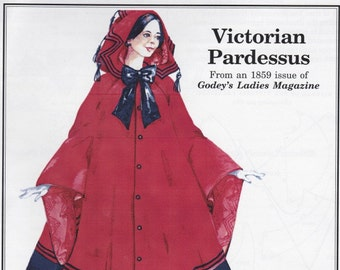 PP730 - Past Patterns #730, 1859 Victorian Pardessus Sewing Pattern
