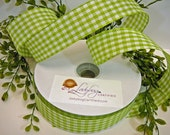 Gingham Check Ribbon Wire...