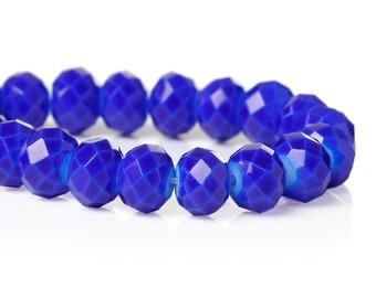 8mm Crystal Beads, Rondelle Shape, Rondelle ROYAL BLUE, 72 beads, bgl0901