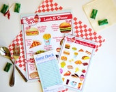 Childs Pretend Play Restaurant Menu Set