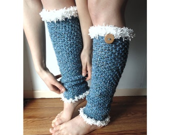 Crochet PATTERN - Frosty Leg Warmers ( Toddler, Child, Adult Sizes)