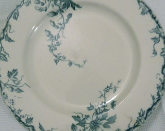 4 French Art Deco Luneville desert plates