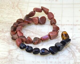 15 1/2inch 33Beads 13mmx8mm Nugget Goldstone Jasper  gemstone bead One strand