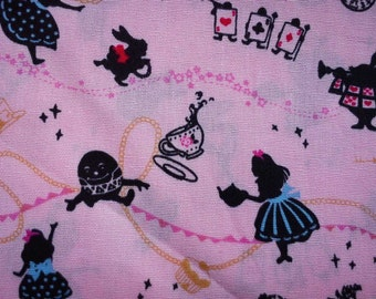Alice in Wonderland, pink, fat quarter, pure cotton fabric