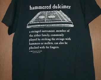 Hammered Dulcimer Definition T-Shirt XXL