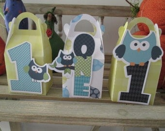 One Year Old Boy Gable Boxes Set of 12