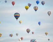 Hot Air Balloons Photography Print 11x14 Fine Art Dreamy New Mexico Whimsical Sky Landscape Photography Print.