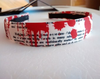Blood Splattered Print Headband