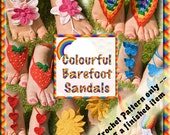 PDF Crochet Pattern Colourful Barefoot Sandals