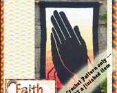 PDF Crochet Pattern Faith Tapestry Wall Hanging