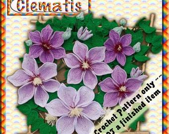 PDF Crochet Pattern Clematis William Kennett