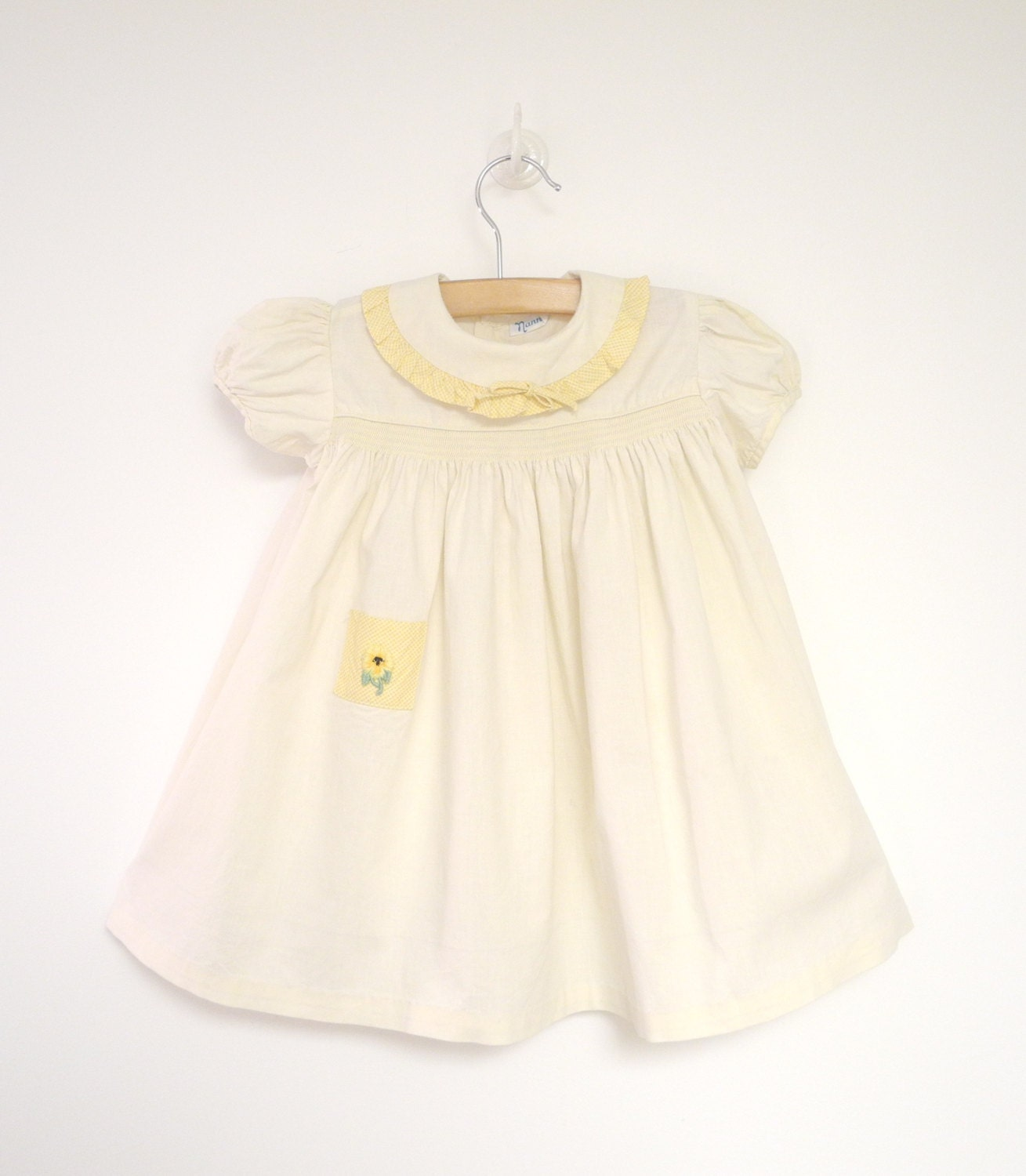 Vintage Baby Clothes 1950 S Pale Yellow Baby Girl By