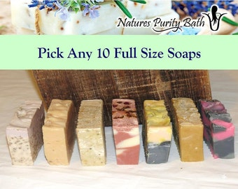 Pick Any 10 soaps for 50 dollars - soap set, gift set, sampler set