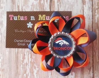 Bronco Loopy Flower Bow