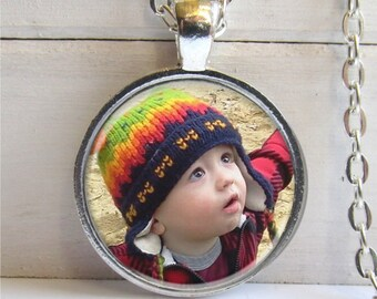 Photo Necklace, Photo Jewelry, Custom Photo Pendant, Personalized Photo Jewelry