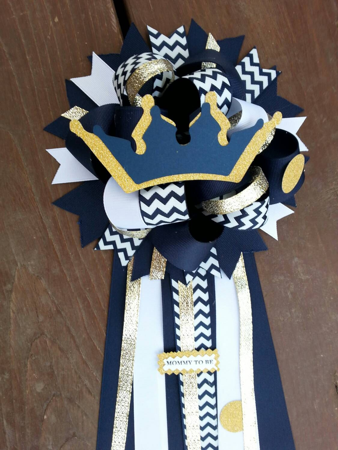 prince baby shower mum by bonbow on etsy