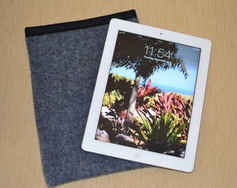 simple iPad Sleeve - Yakima Camp Blanket fabric - LAKE Yakima Blanket Heather Blue - with a Smart Cover iPad won't slip out - ONE of a KIND
