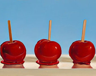 """Giclee print on canvas of original painting """"Candy Apples"""""""