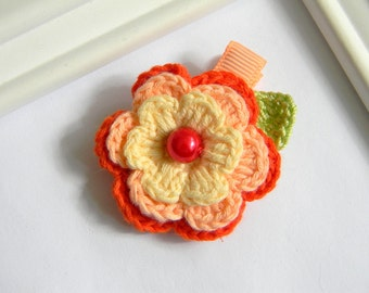 Crochet Flower Hair Clip - Crochet Clippie