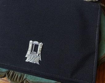 Vintage Clutch Purse / Bag: Black Evening Purse, Bag, Purse