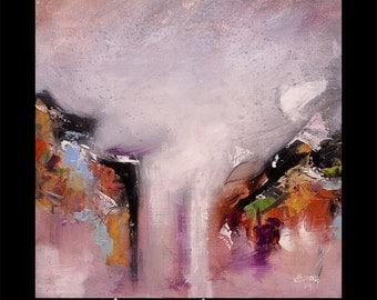 MODERN Original Painting Contemporary Abstract Landscape on Stretched Canvas and Ready To Hang