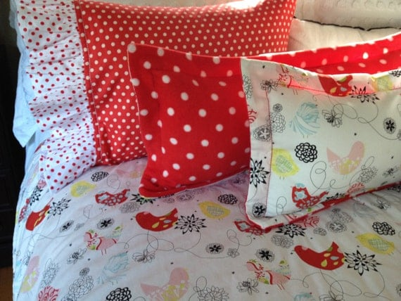 Decorative Pillows For Crib : 3 decorative pillow accents Toddler /Crib by HandmadebyBlissbydeb
